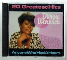 DIONNE WARWICK - Anyone Who Had A Heart - 20 Greatest Hits - CD - w / 7 Top 10s