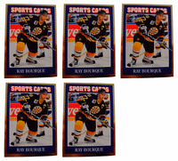 (5) 1992 Sports Cards #15 Ray Bourque Hockey Card Lot Boston Bruins