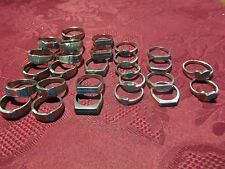 Lot of 27 Unisex Turquiose Coral Fashion Rings
