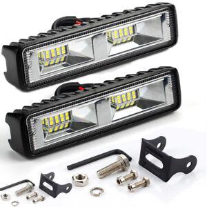 2pcs 48W 12V 24V 16 LED Work Light Spot Fog Lamp Truck Off-Road ATV SUV 4WD