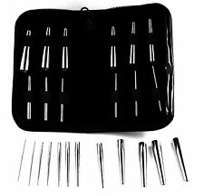 "Body Piercing 2"" Long Insertion Pin Set - compries 12 pieces UK"