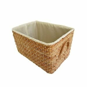 Woven Storage Basket Nordic Laundry Wicker Basket Handles Fruit Debris Corn Husk