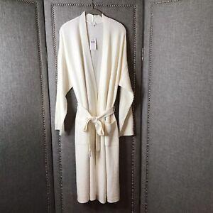 J Jill Cream Plush Robe Large NWT