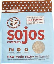 4 lb Large NEW pouch bag Sojos Turkey & Salmon Complete Puppy Dog Food!