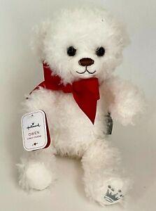 "NWT Hallmark White Plush Bear Owen A Best Friend Stuffed Animal Toy 10"""