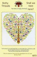 BOTHY THREADS BIRDS SHALL WE NEST HERE HEART TREE COUNTED CROSS STITCH KIT 2015
