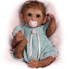 Clementine Needs a Cuddle Ashton Drake Baby Monkey By Linda Murray 14 inches