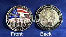 LAPD Air Support Challenge Coin Helicopter Logo two sided LAPD