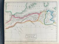 1829 ANCIENT NORTH AFRICA HAND COLOURED ANTIQUE MAP BY SIDNEY HALL 191 YRS OLD