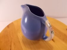 Vintage Hall's Superior Quality Kitchenware Rose Parade Ball Blue Pitcher USA