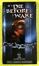 If I Die Before I Wake ~ New VHS Movie Screener Promo Demo Tape ~ Rare Video