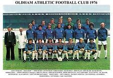 OLDHAM ATHLETIC F.C.TEAM PRINT 1976 (CHAPMAN / DUNGWORTH / HURST)