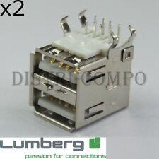lot de 5 Embase USB Type B version 180° femelle pour circuit imprimé