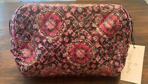 Vera Bradley Iconic MEDIUM Cosmetic Bag in Raspberry Medallion PVC coated