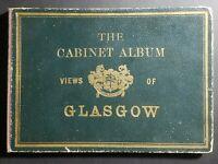 """Rare - The Cabinet Album Views Of Glasgow Scotland - 18 views - 7 1/8"""" x 5 1/8"""""""