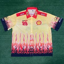 Ptah Sportswear Pennzoil NASCAR Kevin Harvick Racing Button Up Yellow Shirt - L