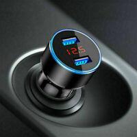 Dual USB 3.1A Car Charger LED Display 12-24V Voltmeter Monitor Cigarette Lighter