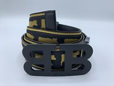 $425 Bally Animals Leather Reversible Black and Black Belt 120/48 Made in Italy