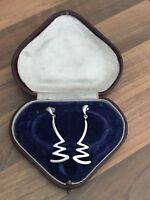 Sterling Silver Drop Dangle Earrings 6.1gr Sheffield 1992