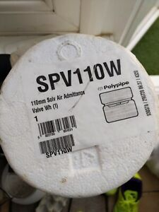 3 X Polypipe 110mm Soil Solvent Air Admittance Valve - White SPV110W