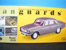 Rover 2000 MkI in Tobacco Leaf with red hide  RHD Corgi Vanguards NEW 1:43 rd.