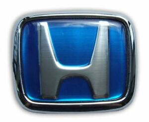 BLUE FRONT PAIR H-BADGE TO FIT ALL STANDARD HONDA 88-00'- CARBON CULTURE BRAND
