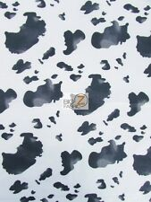 COW PRINT POLY COTTON FABRIC - Black/White - SOLD BY YARD BED SPREADS SHIRTS