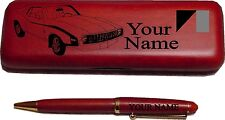 1972 AMC Javelin Rosewood Pen & Case Engraved