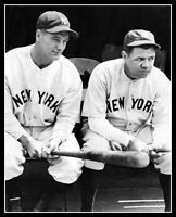 Babe Ruth Lou Gehrig Photo 8X10 - New York Yankees 1932   Buy Any 2 Get 1 FREE