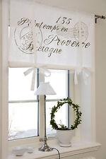Raff Gardine NICE Sand Rollo 80/100/120/140/160 Breit Shabby Curtain Franske