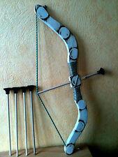 Arc et ( 5  fleches ) taille 53 cm  en bois ( artisan createur) pour enfant