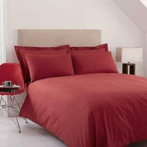 Crimson Red King Size Duvet Cover Set 180 Tc Includes Two Pillowcases