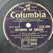 """78rpm 12"""" COLUMBIA ON PARADE dx 299"""