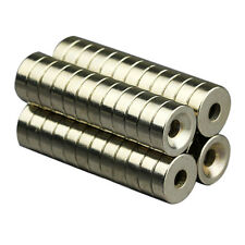 10pcs Round Countersunk Ring Magnets Hole 4mm Rare Earth N50 Neodymium 12mm x4mm