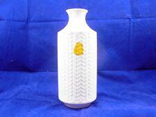 Winterling Marktleuthen Vintage Vase weiß mit Ährenmuster 1960er Jahre