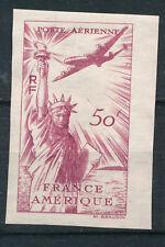 FRANCE - Poste aérienne - Alliance US-FR- 50Fr rouge  NON EMIS