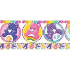 Girls Birthday Party Bunting Banner Care Bears TV Show Rainbow 80s Retro