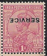 INDIA 1 ANNA 1911 MAJOR ERROR INVERTED Overprint RARE INDIAN STAMP KING GEORGE V