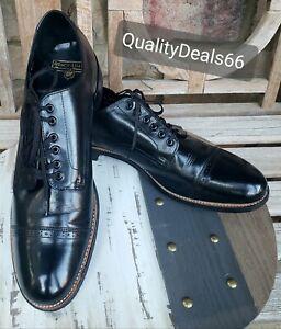 Stacy Adams Madison Men's 11.5D Shoes Biscuit Cap Toe Soft Leather Black 00012🔥