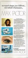 Q- Publicité Advertising 1970 Maquillage Des Yeux Max Factor