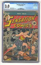 Sensation Comics 11 CGC 3.0 Wonder Woman Classic cover!