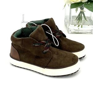 NEW Toddler Boy's Axel Mid Top Sneakers Sz 6 Shoe Brown Casual To Dress