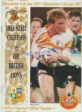 BRITISH & IRISH LIONS V ARANCIONE libero Stato 1997 RUGBY programma