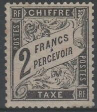 """FRANCE STAMP TIMBRE TAXE N° 23 """" TYPE DUVAL 2F NOIR """" NEUF x TTB SIGNE RARE"""
