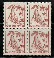 South Korea #364 Block of 4 1962-63 MNH