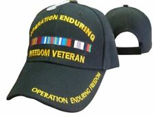 Operation Enduring Freedom Veteran Ribbon Black Baseball Hat Cap 608B