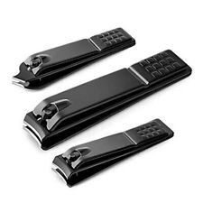 Black Stainless Steel Nail Cutting Professional Nail Clipper