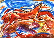 Christian Rohlfs springende Pferde 1922 Pferd Tiere Landschaft  Gabriele Sauler