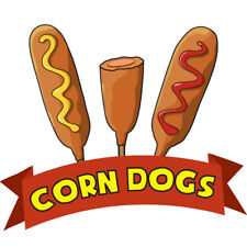Corn Dogs Concession Decal Sign Cart Trailer Stand Sticker Equipment