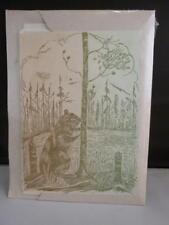 Vintage SEALED Original Gwen Frostic Block Prints Notecards Beaver Badger Art